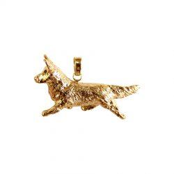 14K Gold or Sterling Large Trotting Cardigan Welsh Corgi