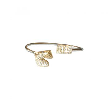 14K Gold Best in Show Bangle Bracelet with Breed Pavé in Spectacular Diamonds