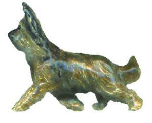 14K Gold Briard with Personalized Enamel Overlay