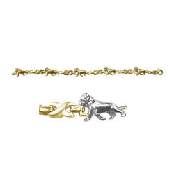 Bullmastiff X-Link Bracelet in 14K Gold or Sterling Silver