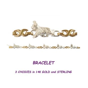 14K Gold or Sterling Silver Briard Tennis Bracelet with Comfort X Links