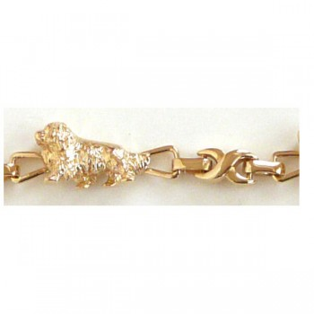 Cavalier King Charles Trotting Bracelet with X Links