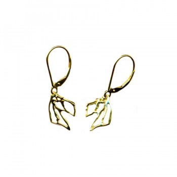 Small Airedale Terrier Head Silhouette Earrings
