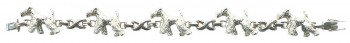 Trotting Airedale Tennis Bracelet with Comfort X Links