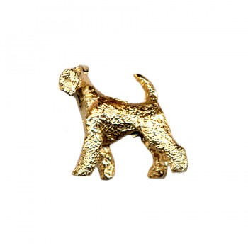 Large Trotting Airedale Terrier with Turned Head in 14K Gold or Sterling Silver