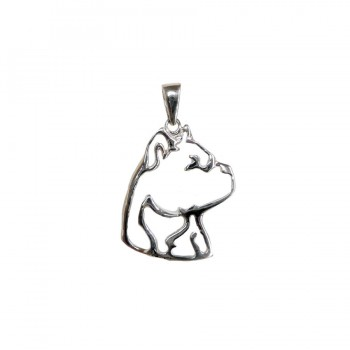14K Gold or Sterling Silver American Staffordshire Terrier ( Am Staff ) Silhouette