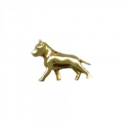 Large Trotting American Staffordshire Terrier ( Am Staff ) in 14K Gold or Sterling Silver