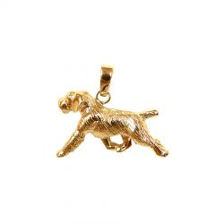 Large Trotting German Wirehaired Pointer in 14K Gold or Sterling Silver