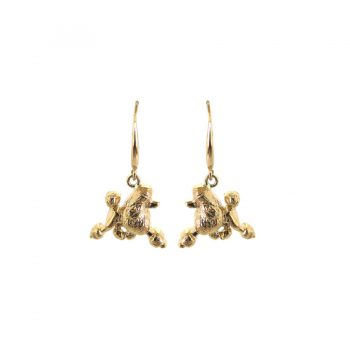 Exquisite 14K Gold or Sterling Trotting Poodle Earrings