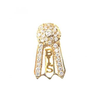 14K Gold Best in Show Rosette Blazing with Diamonds