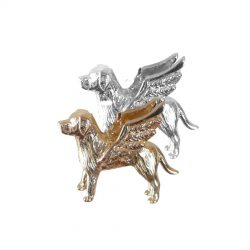 14K Gold or Sterling Labrador Retriever Angel Charm with Wings