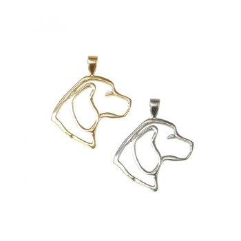Solid 14K Gold or Sterling Beagle Head in Silhouette