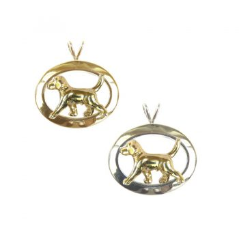 Trotting Beagle in Glossy Oval Featuring 3 Options in 14K Gold and Sterling Silver