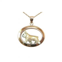 Perfect Oval In 14K or Sterling with Enamel French Bulldog ; Personalize with YOUR photo