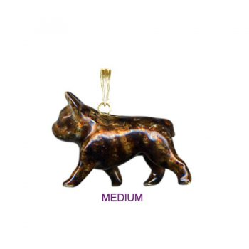 14K Gold or Sterling French Bulldog with Custom Enamel Overlay
