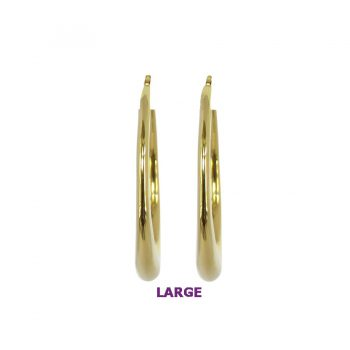 Large and Lovely Hoop Earrings in 14K Yellow Gold