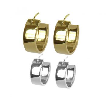 "The ""Valerie"" Hoop Earrings in 14K Gold or Sterling Silver"