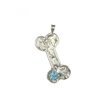 All Sterling Handmade Textured Bone with Blue Topaz- Featured View