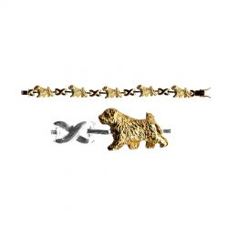 Norfolk Terrier X-Link BRACELET with 3 options in 14K Gold or Sterling Silver