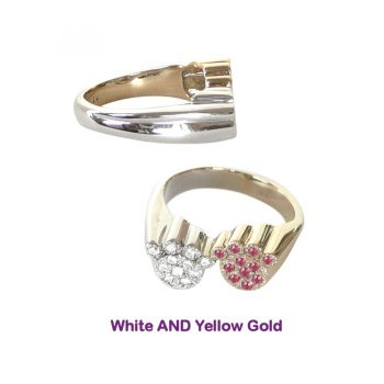 All 14K Gold Fabulous Double Paw Gemstone Ring