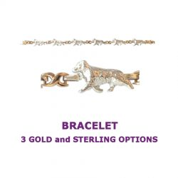 Australian Shepherd X-Link Bracelet with 3 options in 14K Gold or Sterling Silver