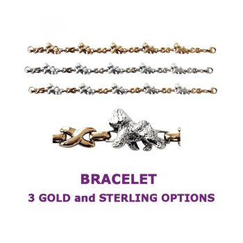 Bichon Frise X-Link Bracelet with 3 options in 14K Gold or Sterling Silver