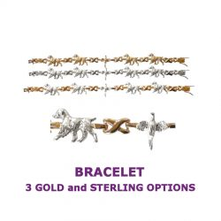 Brittany X-Link Bracelet with Pheasant and 3 options in 14K Gold or Sterling Silver