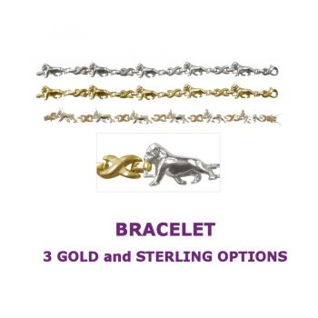 Bullmastiff X-Link BRACELET with 3 options in 14K Gold or Sterling Silver