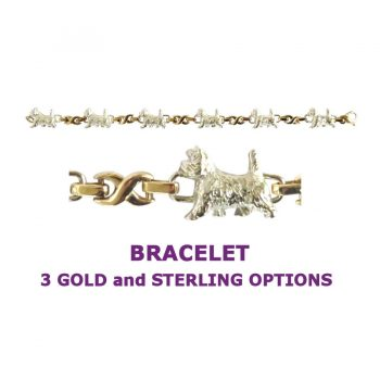 Cairn Terrier X-Link Bracelet with 3 options in 14K Gold or Sterling Silver