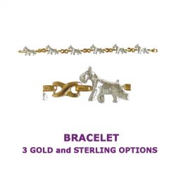 Miniature Schnauzer X-Link Bracelet with 3 options in 14K Gold or Sterling Silver