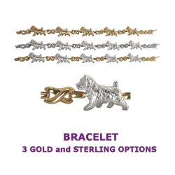Norwich Terrier X-Link Bracelet with 3 options in 14K Gold or Sterling Silver