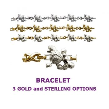 Poodle X-Link Bracelet with 3 options in 14K Gold or Sterling Silver