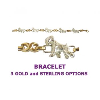 Soft Coated Wheaten Terrier X-Link Bracelet with 3 options in 14K Gold or Sterling Silver