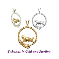 Fabulous Newfoundland in Leash; 14K Gold, Sterling and Combo options