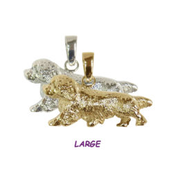 14K Gold and Sterling Silver Sussex Spaniel Jewelry