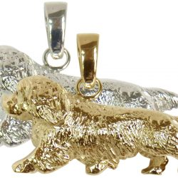 Large Trotting Sussex Spaniel in 14K Gold or Sterling Silver