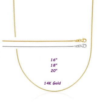 Solid 14K White or Yellow Gold Franco Chain
