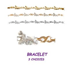 American Cocker Spaniel X-Link Bracelet with 3 options in 14K Gold or Sterling Silver