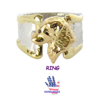 Handmade Golden Retriever Ring with Gorgeous Head and 14K Wire Trim