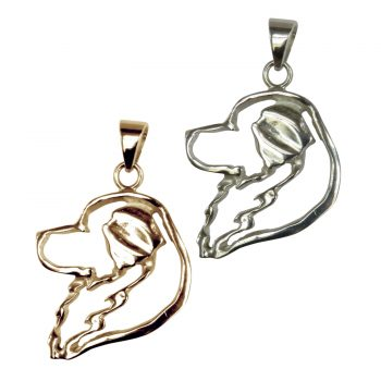 14K Gold or Sterling Silver Great Pyrenees Head in Silhouette