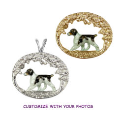 14K Gold or Sterling Scene with Customized Enamel Brittany