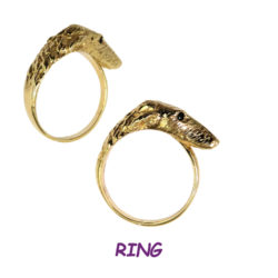 14K Gold Borzoi Wrap Ring