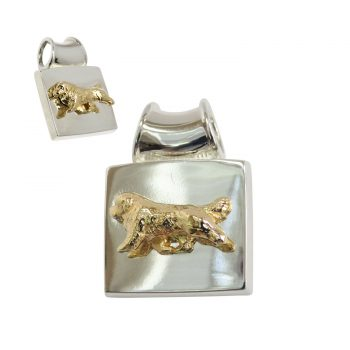 Newfoundland on Solid Square Pendant- 3 Choices in 14K Gold or Sterling