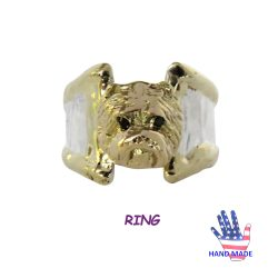 Handmade West Highland White Westie Ring with Gorgeous Head and 14K Wire Trim