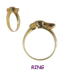14K Gold Whippet Wrap Ring