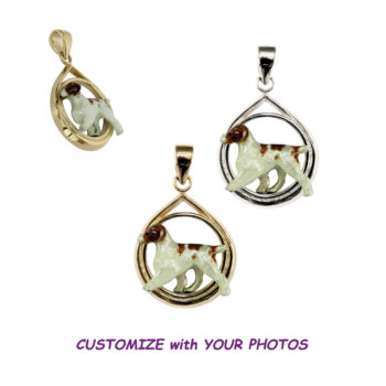 14K Gold or Sterling Teardrop with Customized Enamel Brittany