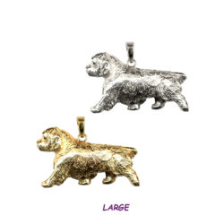 Gorgeous Large Trotting Clumber Spaniel in 14K Gold or Sterling Silver
