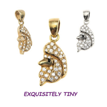 14K Gold Poodle Charm Pavé in Full Cut Diamonds