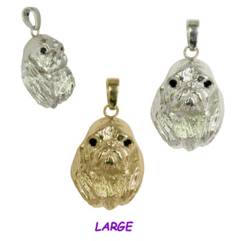 English Toy Spaniel Large Head in 14K Gold or Sterling Silver